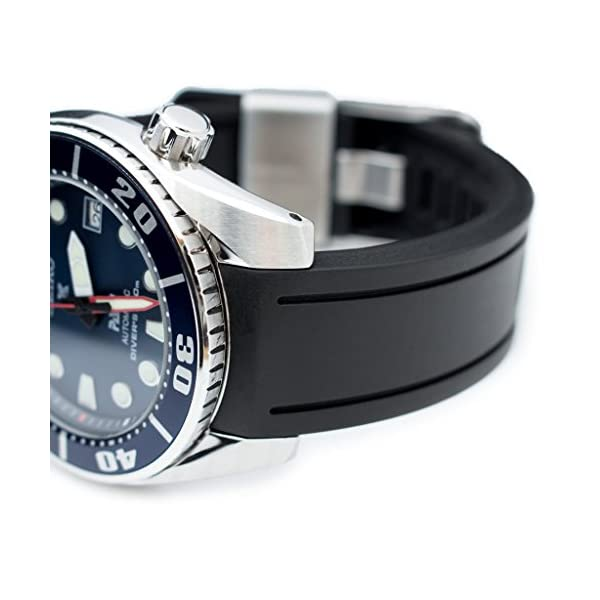 20mm-Crafter-Blue-Black-Rubber-Curved-Lug-Watch-Band-for-Seiko-Sumo-SBDC001