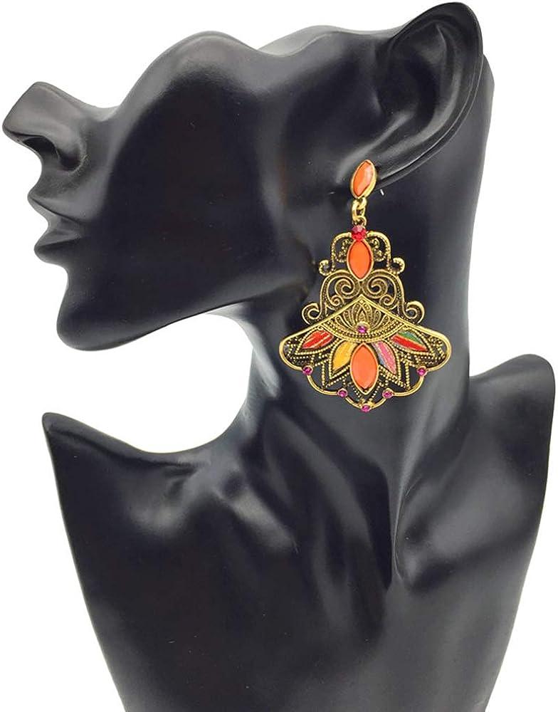 Ethnic Vintage Handmade Tibetan Multi Strand Choker Earring Set pour femmes Filles Furado Boucles doreilles collier Set Style Boho
