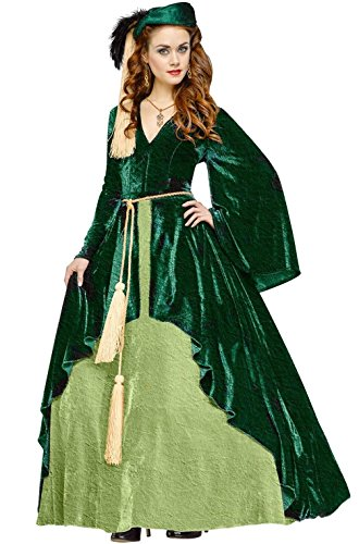 [Mememall Fashion Scarlett O'Hara Gone with the Wind Southern Gown Dress Adult Costume] (Scarlett O Hara Halloween Costumes)