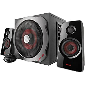 Trust GXT 38 120-Watt 2.1 Gaming Speakers with Subwoofer for PC, Xbox 360, and PS3, Black