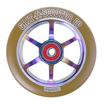 Grit – Ruedas para patinete (núcleo de aleación de 110 mm, 6 radios,