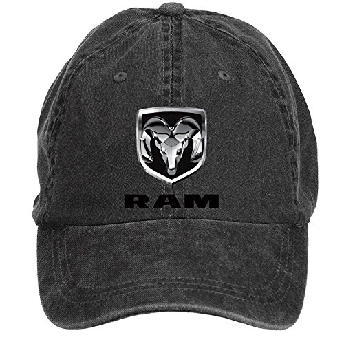 FENGTING Dodge Ram Logo Adult Cotton Washed Baseball Cap With Adjustable Velcro Hat Caps One Size ColorName