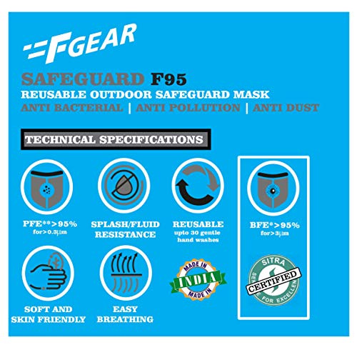 F Gear Safeguard F95 Reusable Outdoor Mask Pack of 5