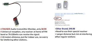 Fmuser M01 Mini Fm Transmitter Micro Audio Kabellose Übertragung Pcb Modul Pll 76 120 Mhz Verstellbar Audio Hifi