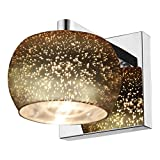 Access Lighting Galaxy Star Glass Vanity - Mirrored Stainless Steel Finish with Starry Night Glass Shade