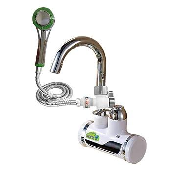 Eil Calefacción Faucet 220V, Calentador de Agua eléctrico instantáneo - Grifo de Cocina para baño