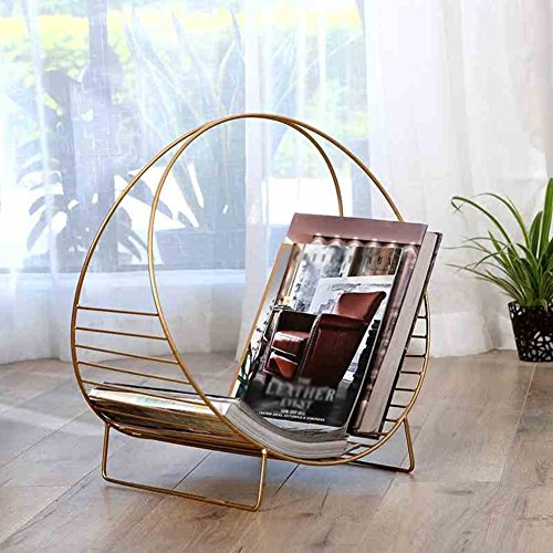 Ping Bu Qing Yun Bookshelf - Floor Rack Decoration Ornaments Simple Small Bookshelf Study Study Desktop Wrought Iron Furnishings Bookshelf (Color : Gold) - Iron Furnishings Wrought