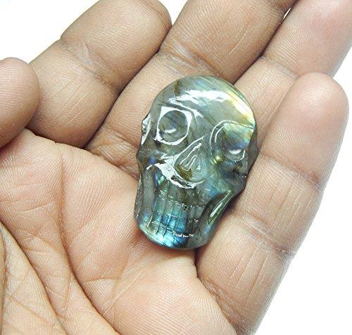 Myhealingworld Natural Crystal Quartz Gemstone Statue/Sculpture Symbol of Good Luck, Peace and Long Life, Labradorite Gemstone, Blue Fire Labradorite, 1 to 1.5 Inch Approx