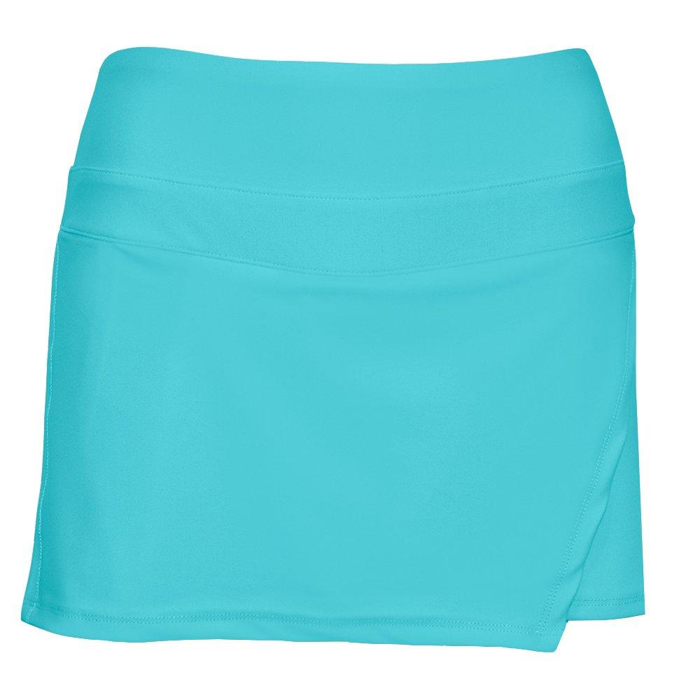 BPassionit Activewear Wrap Skirt with Attached Undershort (Medium, Cabo Blue w/Black Undershort)