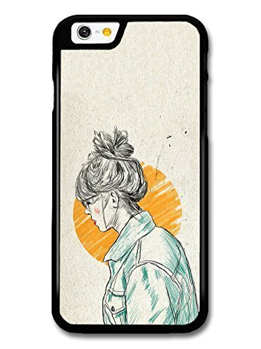 diy-case-girl-with-a-bun-sketch-hair-color-original-art-illustration-case-for-iphone-5-5s