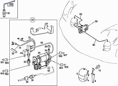 Mercedes Air Suspension Repair Pressure Hose Pipe Line A2203271045
