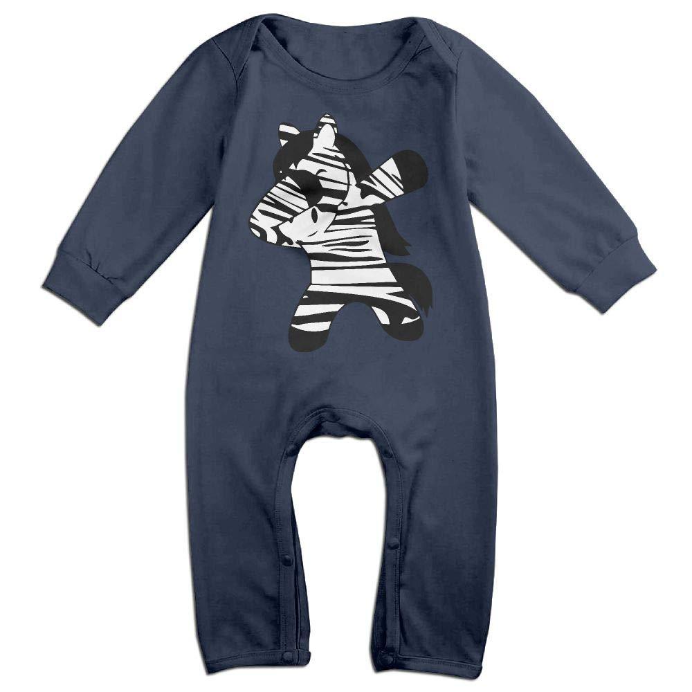 Mri-le1 Newborn Baby Jumpsuit Dabbing Zebra Infant Long Sleeve Romper Jumpsuit