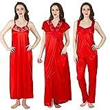 Bombshell Red Satin Nighty Pack of 4