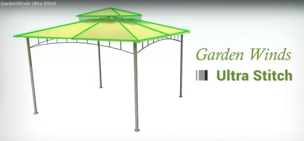 Garden Winds Replacement Canopy for The Shadow Creek Gazebo Riplock 350 Beige