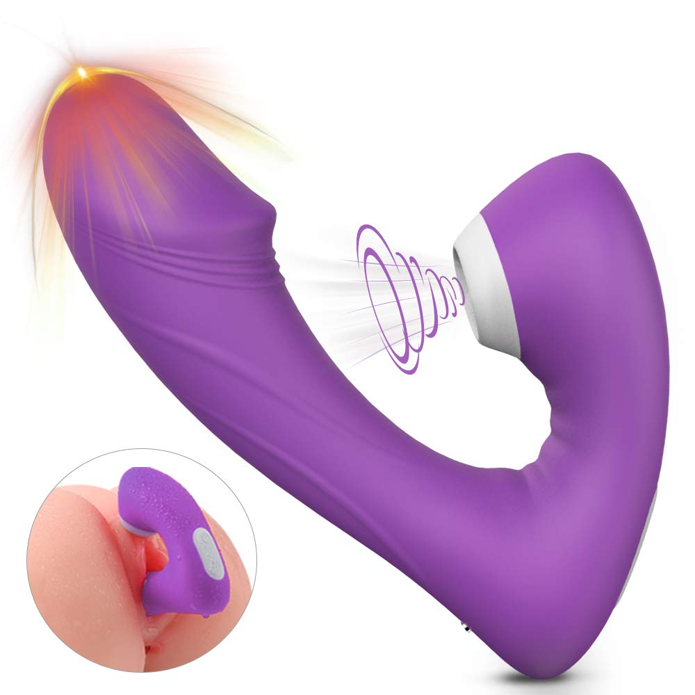 Clitoral Sucking Vibrator with 9 Suction & Vibration Modes, Wearable Dildos Couple Clitoris G-Spot Stimulation, Rechargeable Waterproof Massager Sex Toys for Women, Couples by LZQ