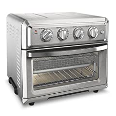 The Cuisinart Air fryer toaster oven is a premium full-size toaster oven with a built-in Air fryer. It will not only bake a 4 lb. Chicken or 12 in. Pizza, broil Salmon steaks, and toast 6 bagel halves at once, It can also air fry up to 3 lbs....