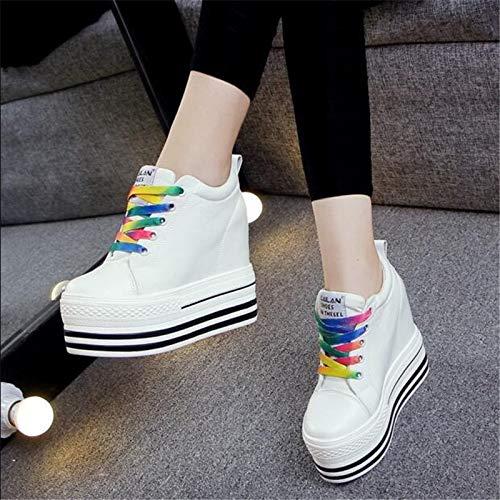 Zapatillas Zapatos Plataforma Mujeres Ysfu Ocultos Vulcanizados Deporte Señoras Las Al Aumento Talón La Aire Altura Libre De Casuales dwx5q0rqF