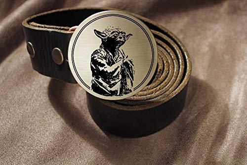 Yoda JEDI Etched Metal Belt Buckle