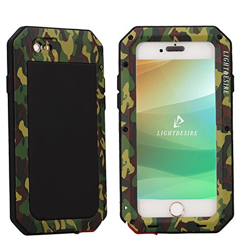 timeless design 616a7 b852f iPhone 6S Protective Case,LIGHTDESIRE [Newest] Aluminum Alloy Army ...