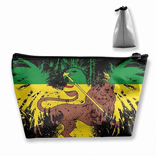 Rasta Single (JEFFERYjSPARKS Lion Rasta National Flag Trapezoidal Bag Receive Bag Single Layer Storage Bag for Travel)