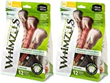 WHIMZEES Natural Grain Free Dental Dog Treats, Brushzees (Medium Size for 25-40 Pound Dogs / 12 Per Pack) (Medium (24 Count)) For Sale