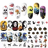 #6: SIUSIO 48PCS Nail Decals Assortment Halloween Nail Stickers Manicure Nail Art Decals Decoration