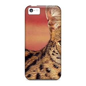 Case88me Scratch-free Phone Cases For Iphone 5c- Retail Packaging - Serval Cat