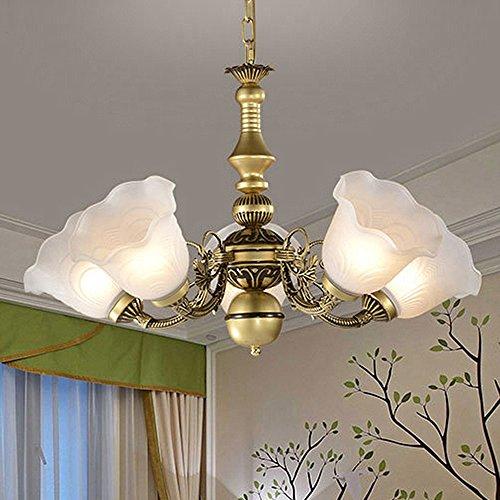 trioy Life Candelabros latón Retro Vintage - Lámpara de techo (5 focos, diseño moderno colgante Leuchten industriales Deco lámpara lámpara de techo rústico ...
