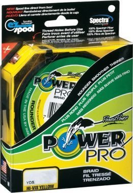 Shimano Power Pro 50 lb X300 Yd Spool HiVis Yellow Braided line
