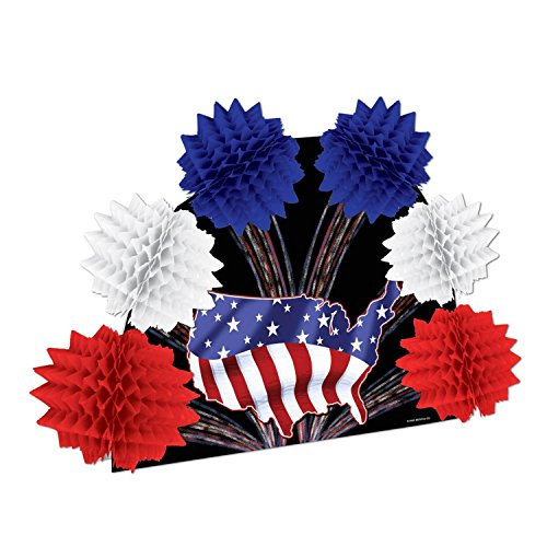 Club Pack of 12 Patriotic Red, White and