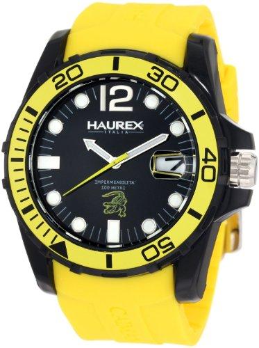Haurex Italy Men's N1354UNY Caimano Date Black Dial Rubber Sport Watch by Haurex