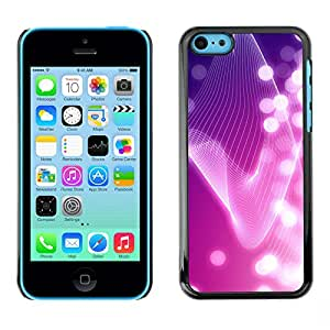 LASTONE PHONE CASE / Carcasa Funda Prima Delgada SLIM Casa Carcasa Funda Case Bandera Cover Armor Shell para Apple Iphone 5C / Cool Lines Bright White Lights Girly