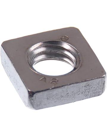 Nero Dadi in acciaio inox quadrato acciaio inox a2-70 m5 m6 m8 m10 m12 DIN 557