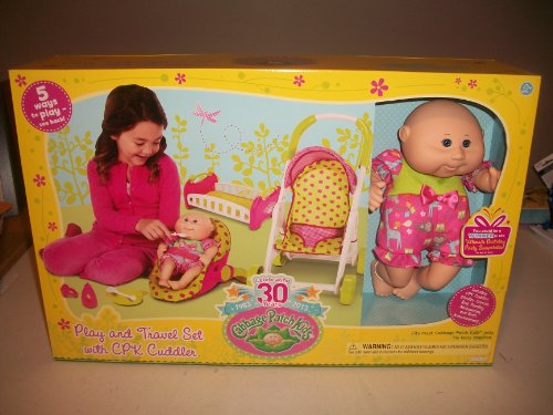 Cabbage Patch Kids 30 Year Play and Travel Set with CPK Cuddler, Baby & Kids Zone