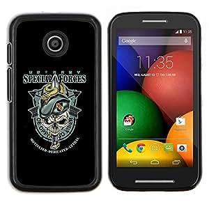 For Motorola Moto E Case , Fuerzas Especiales del Ejército- Diseño Patrón Teléfono Caso Cubierta Case Bumper Duro Protección Case Cover Funda