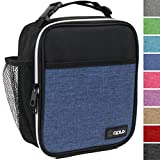 OPUX Premium Insulated Lunch Box | Soft Leakproof School Lunch Bag for Kids, Boys, Girls | Durable Reusable Work Lunch Pail Cooler for Adult Men, Women, Office – Fits 6 Cans (Heather Navy)