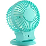 USB Fan Portable Fan Personal Fan Table Fan Mini Rechargeable Fan … (blue)