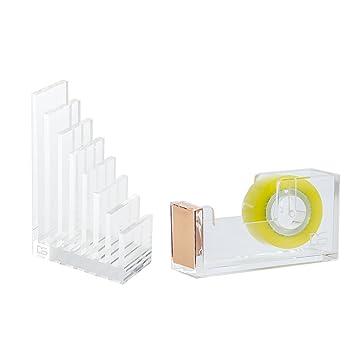 Draymond historia acrílico suministros de oficina Bundle 1) archivo organizador 1) papelería de escritorio dispensador de cinta (): Amazon.es: Oficina y ...