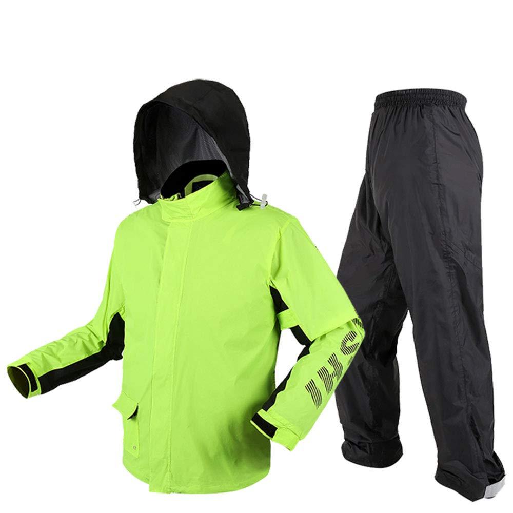 vert XXL Yuany Un imperméable imperméable, Un Pantalon de Pluie, Un imperméable Fendu pour Adultes, Un Poncho imperméable