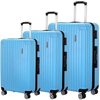 Luggage 3 Piece Set Suitcase Spinner Hardshell Lightweight Trolley TSA