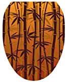 Toilet Tattoos TT-1033-O Bronzed Bamboo Design Toilet Seat Applique, Elongated