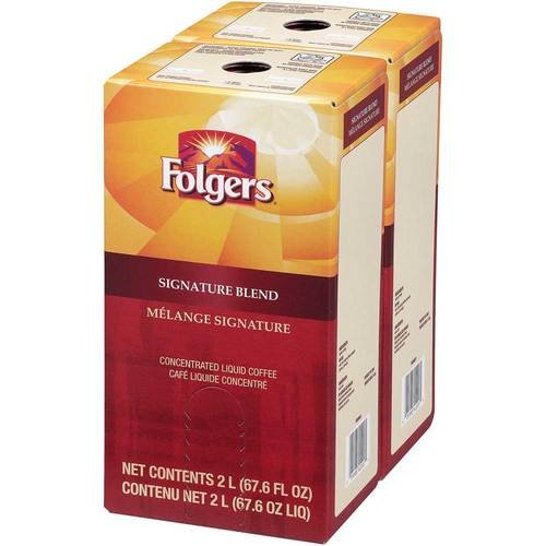 Folgers Liquid Coffee - Signature Blend, 2 boxes/2 L - Replaces Douwe Egberts Gourmet Blend by Folgers