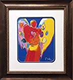 Peter Max ''Angel With Heart'' Newly CUSTOM FRAMED Art Print