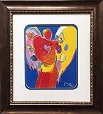 Peter Max ''Angel With Heart'' Newly CUSTOM FRAMED Art Print