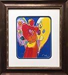 Peter Max Angel With Heart Newly CUSTOM FRAMED Art Print