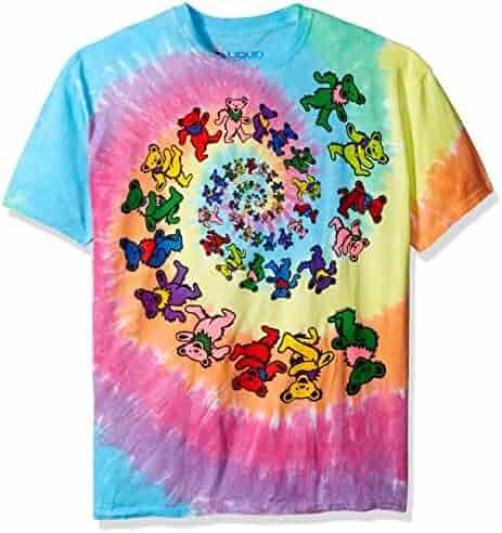 Grateful Dead Men's Spiral Bears Tie Dye T-shirt Multi