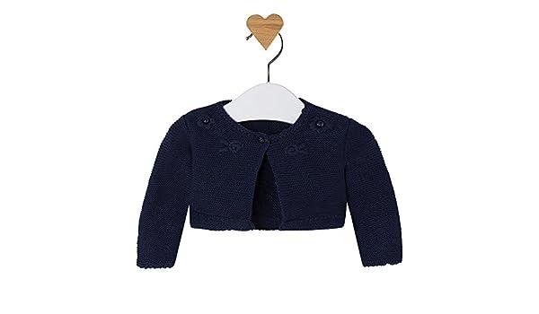 Amazon.com  Mayoral Baby Girls Dark Navy Blue Shrug - Knitted Short Cardigan   Clothing 0ed9cd781