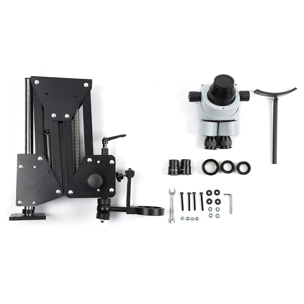 Microscope Gem Diamond Setting Machine, with 77 and 85 Optional Thickened and Widened Lens Multi Directional Micro Setting Microscope Jewelry Tools(#2)