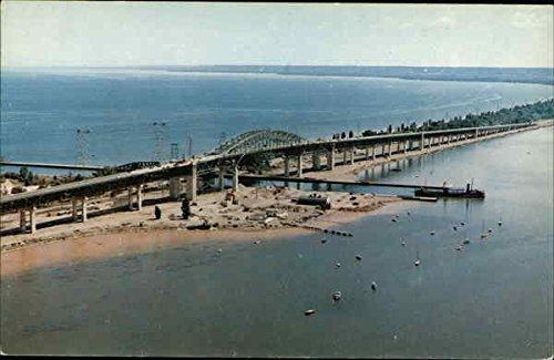 Skyway Bridge on Queen Elizabeth Highway Burlington, Ontario Canada Original Vintage (Queen Elizabeth Bridge)