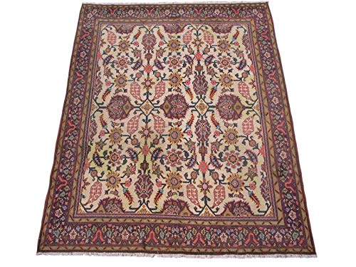 Antique 9X11 Turkish Oushak Area Rug, Circa 1900 - Oriental Hand-Knotted Wool Carpet - Made in Turkey (8.11 x 11.4) Antique Turkish Oushak Rug